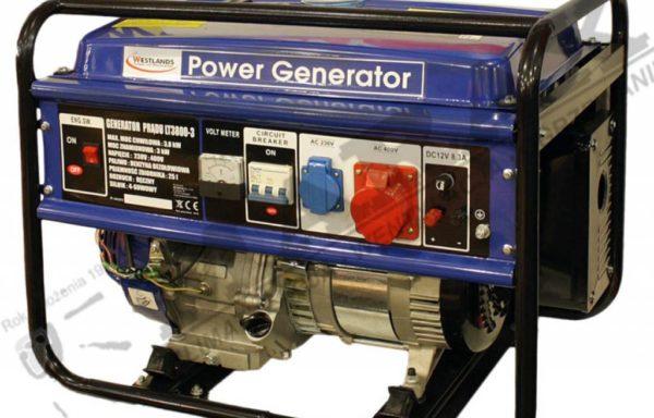 Agregat, generator prądotwórczy WESTLANDS LT3800-3 trójfazowymoc max. 3800W, prądnica spalinowa